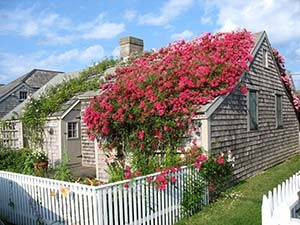 This historic Main Street, 'Sconset cottage is one of many featured on the popular NPT 'Sconset Tour.