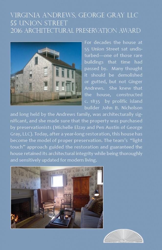 2016 Architectural Preservation Award