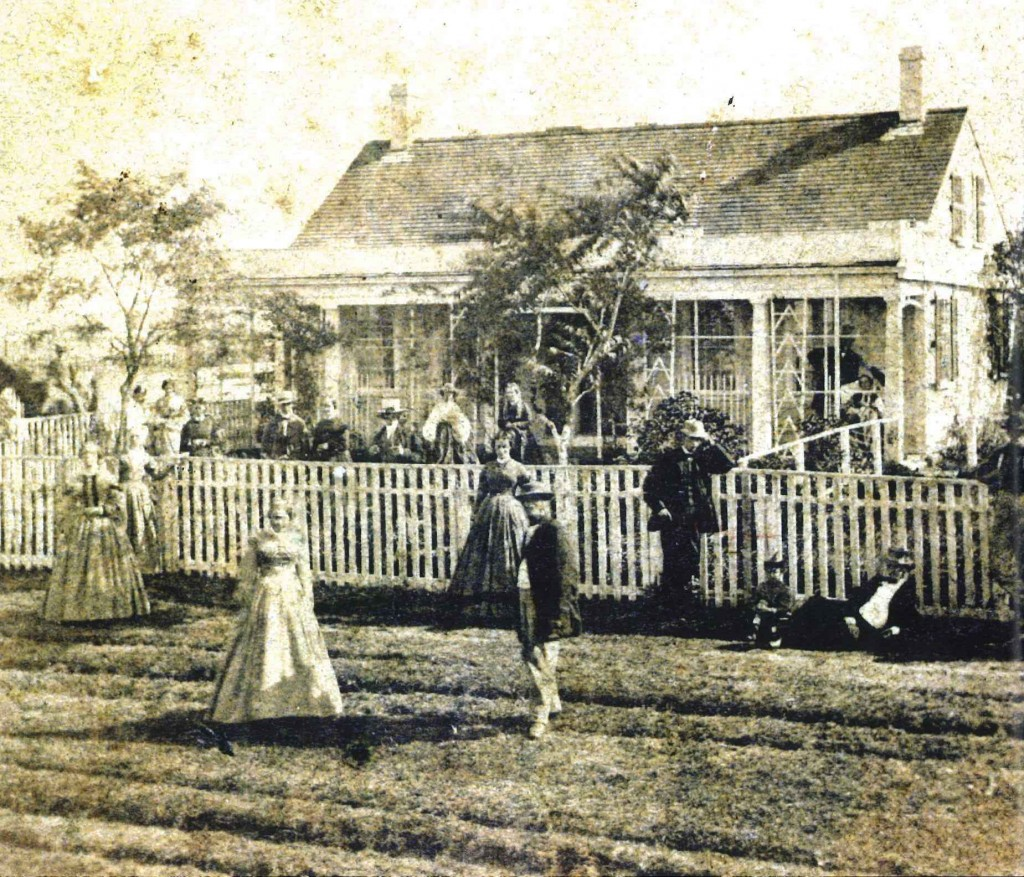 Gathering at 20 Main Street, circa 1870s