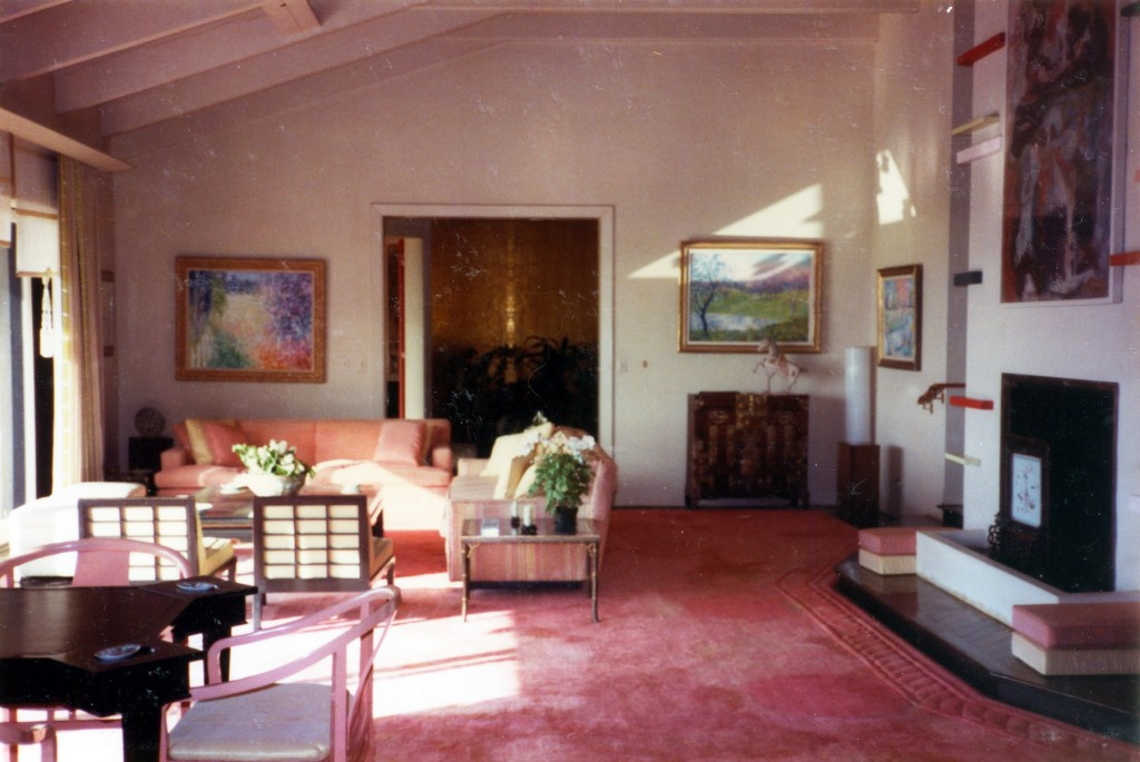 "Interior of ""The Pink House"" (photo courtesy of the NHA)"