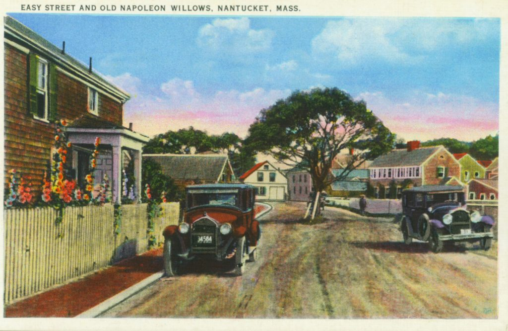 Easy Street Gallery at left, c. 1930 (photo courtesy the Nantucket Historical Association)