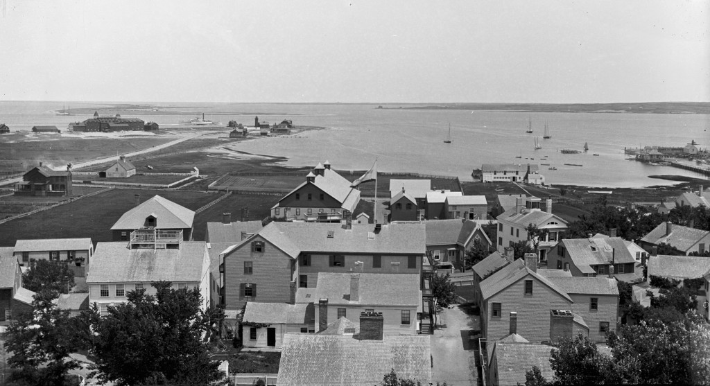 Hayden's building along the harbor, c. 1890s (photo courtesy of the Nantucket Historical Association)